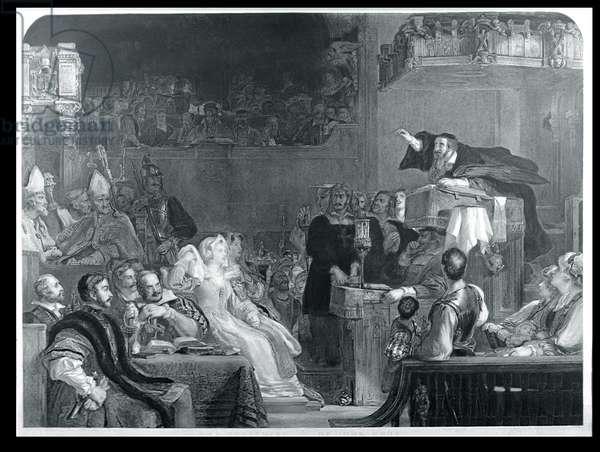 The Preaching of John Knox, c.1837 (engraving)