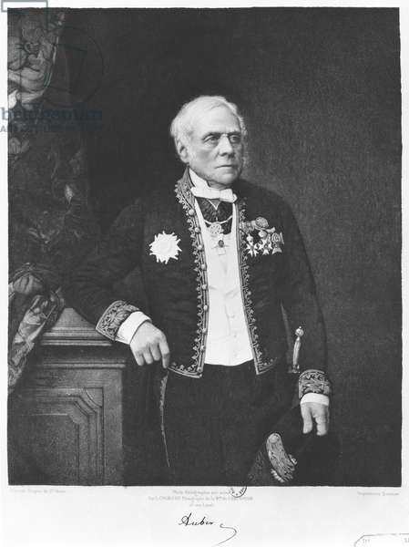 Esprit Auber (1782-1871) (heliogravure) (b/w photo)