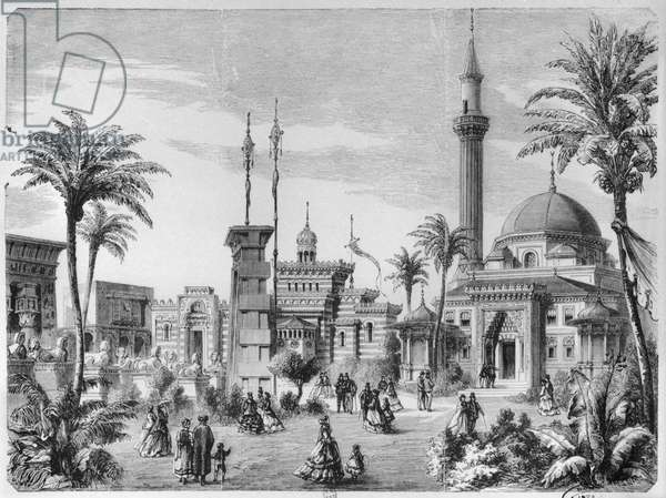 The Foreign and Eastern sections of the Universal Exhibition at the Champ-de-Mars in Paris, engraved by Charles Maurand (19th century) 1867 (engraving)