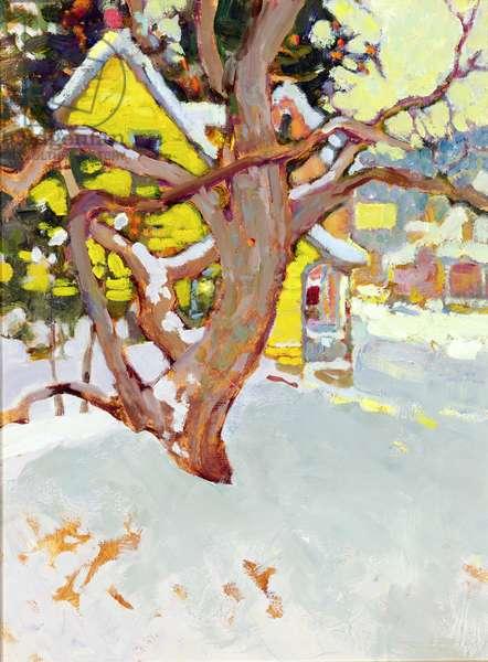 Post Office, Winter (oil on canvas)