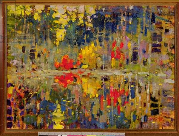 Autumn Lake (oil on canvas)
