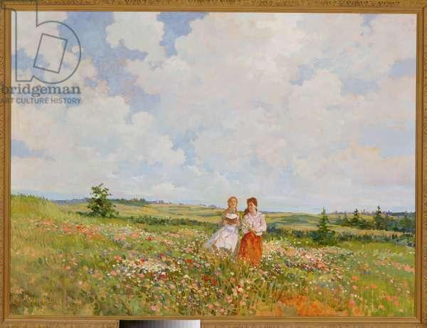 Summer on Prince Edward Island (oil on canvas)