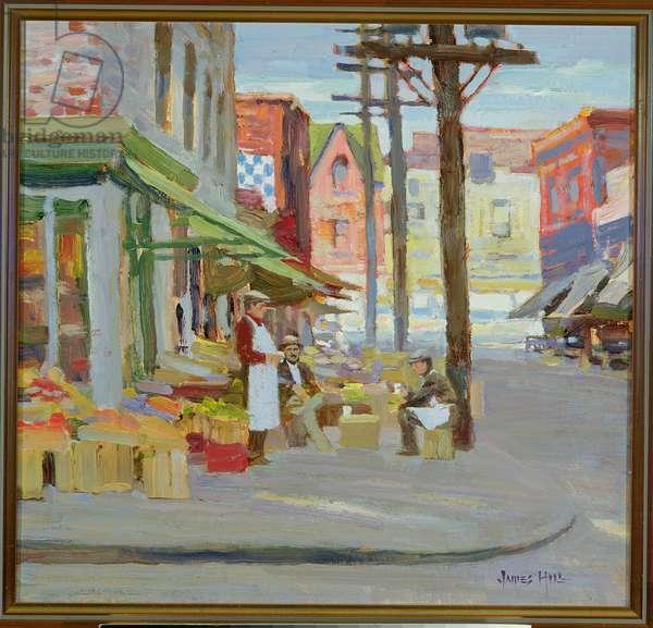 Kensington Market (oil on canvas)
