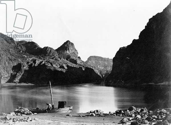 Black Cañon of the Colorado, 1871 (b/w photo)