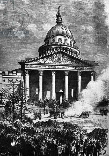 The Paris Panthéon as the HQ of the Paris Commune, late C19th (engraving)