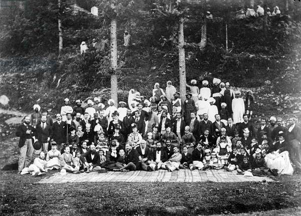 Foreign Office Pic Nic, 1871 (b/w photo)