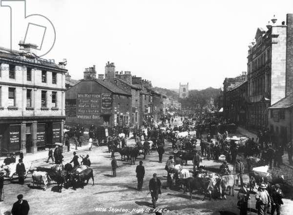 Skipton High Street, c.1900 (b/w photo)
