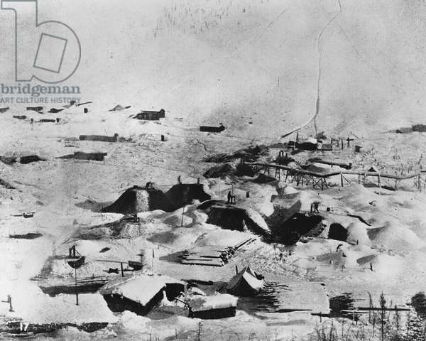 Klondike, Canada, from 'One Man's Gold Rush: A Klondike Album' by Murray Cromwell Morgan (b/w photo)
