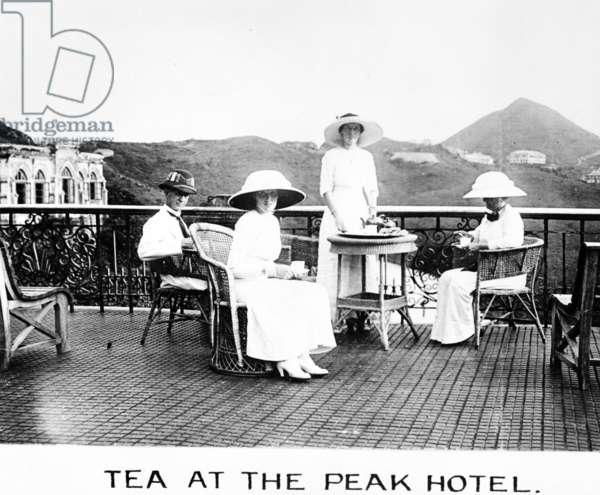 Tea at the Peak Hotel, c.1912 (b/w photo)