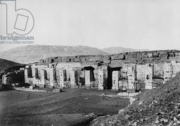 The Temple of Seti I (b/w photo)
