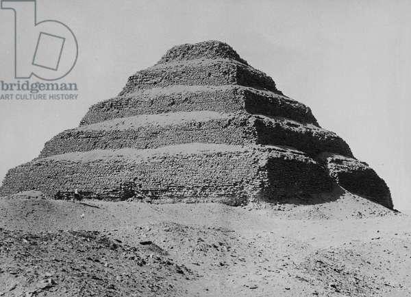 The Pyramid of Sakkara, c.1904-05 (b/w photo)
