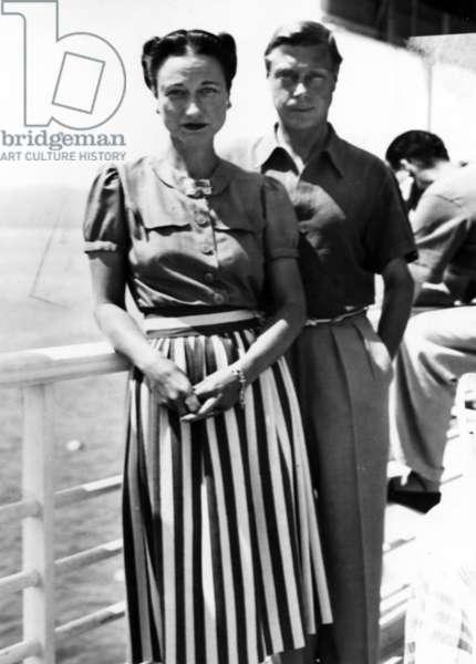 The Duke and Duchess of Windsor On Deck, c.1930-50 (b/w photo)