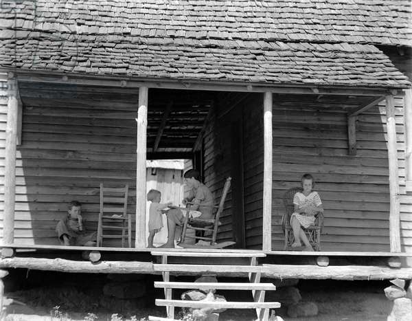 The Burroughs Home, Hale County, Alabama, 1935 (b/w photo)