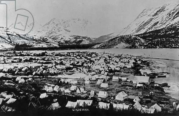 Lake Lindeman, from 'One Man's Gold Rush: A Klondike Album' by Murray Cromwell Morgan (b/w photo)