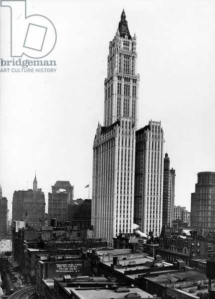 The Woolworth Building, 1912 (b/w photo)