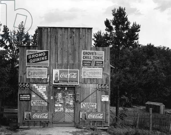 Roadside Store, Tuscaloosa, Alabama, 1937 (b/w photo)