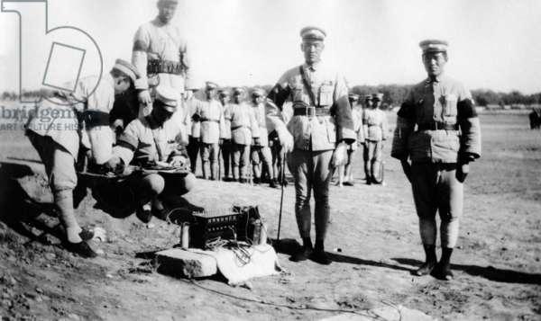 Japanese Military Radio Operators, c.1930s (b/w photo)