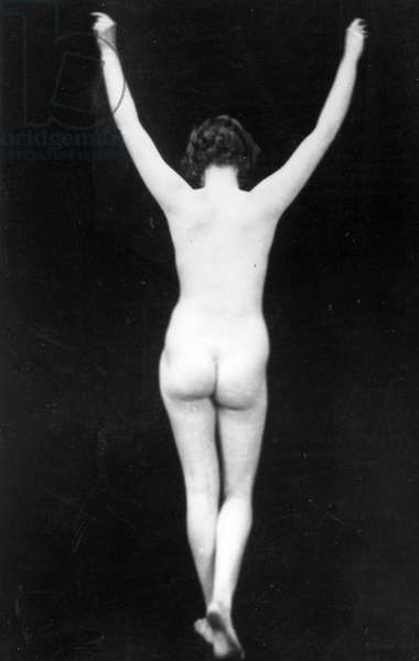 Stereoscopic View of a Female Nude, c.1920s (b/w photo)