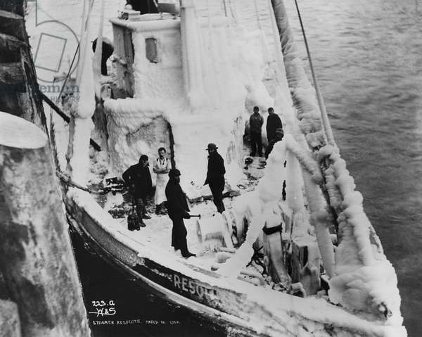 Steamer 'Resolute', from 'One Man's Gold Rush: A Klondike Album' by Murray Cromwell Morgan, 10th March, 1900 (b/w photo)