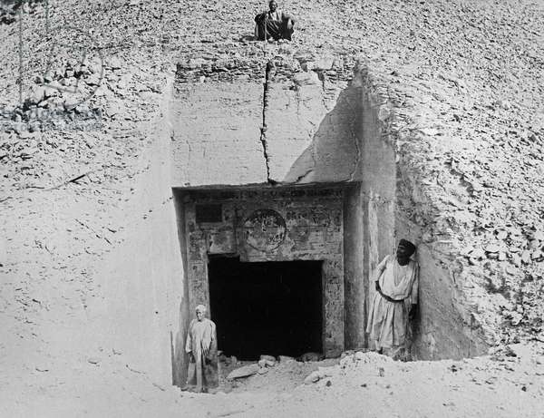 The Entrance to a Tomb (b/w photo)