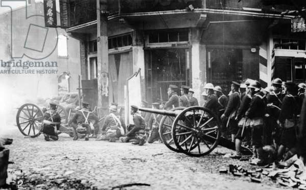 Japanese Artillery in China, c.1930s (b/w photo)
