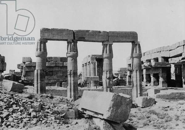 The Great Temple of Ammon (b/w photo)