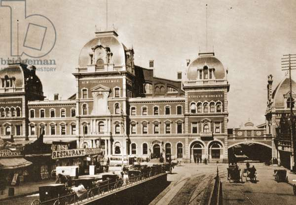 Grand Central Station on 42nd St. at Park Ave., New York City, 1887 (litho)