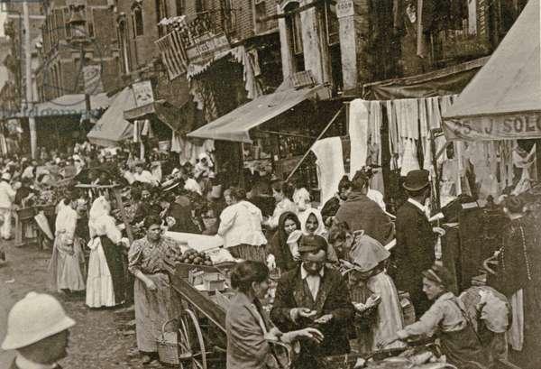 Hester Street, New York City, 1898 (litho)