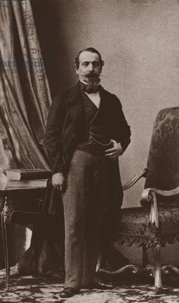 Emperor Napoléon III, c.1860 (b/w photo)