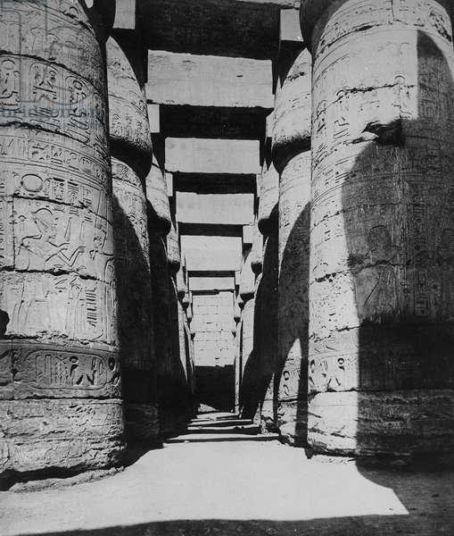 The Hall of Columns (b/w photo)