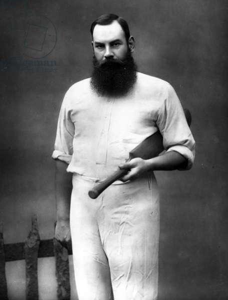 William Gilbert Grace, 1888 (b/w photo)