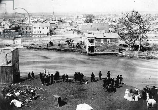 The Great Flood, Denver, Colorado, May 19 1864 (b/w photo)