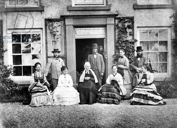 Victorian Family Portrait, c.1860s (b/w photo)