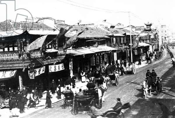 The Nan-Kin Road, c.1905-10 (b/w photo)