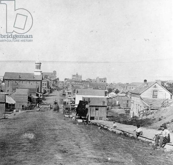 Fifth Street, Leavenworth, Kansas, 1867 (b/w photo)