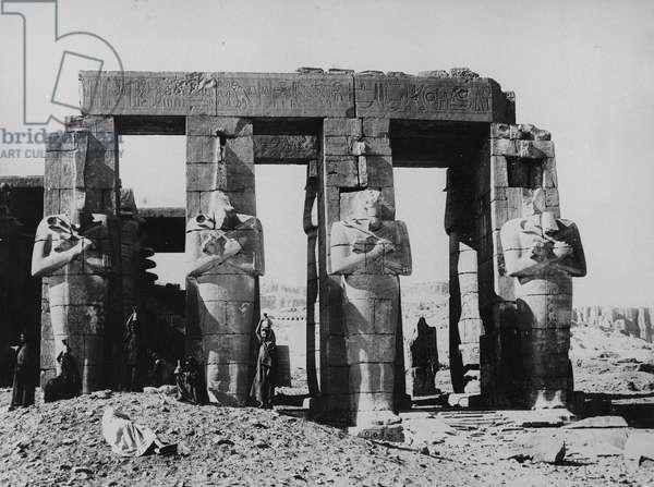 The Ramesseum (b/w photo)