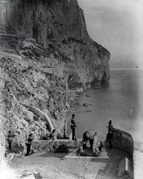 Europa Advance Battery, Gibraltar, c.1868 (b/w photo)