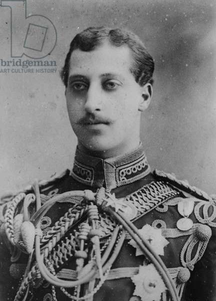Prince Albert Victor, Duke of Clarence and Avondale, 1885 (b/w photo)