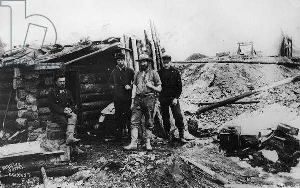 Alaskan gold rush, from 'One Man's Gold Rush: A Klondike Album' by Murray Cromwell Morgan (b/w photo)