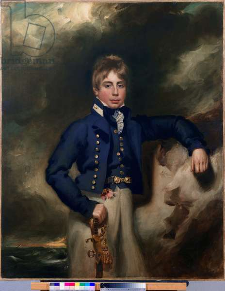Three-quarter length portrait of John Windham Dalling RN, as a midshipman (oil on canvas)