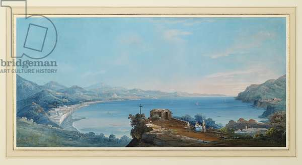 The Bay of Naples (gouache on paper)