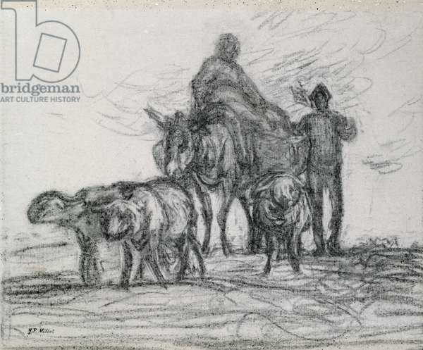 Return from the Fields, 1873 (charcoal)