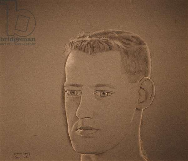 Portrait of Waldemar Hansen, 1947 (conte on paper)