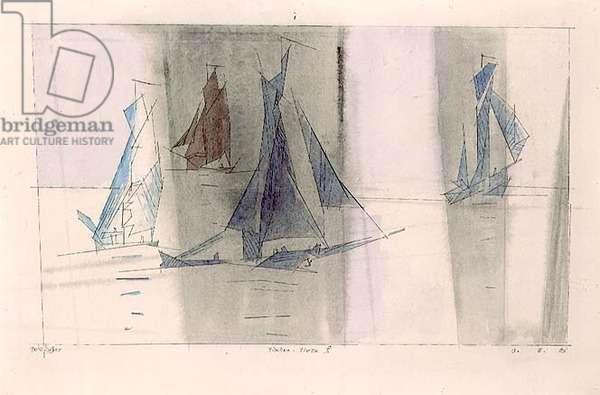 Fishing Fleet II, 1929 (w/c)