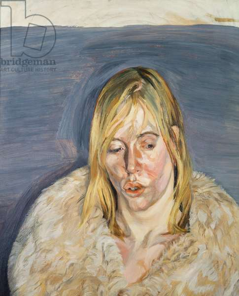 Girl in a Fur Coat, 1967 (oil on canvas)