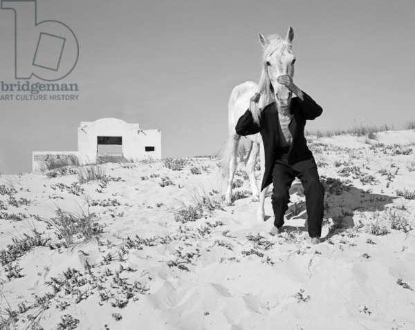 Pferd-Traum (b/w photo)