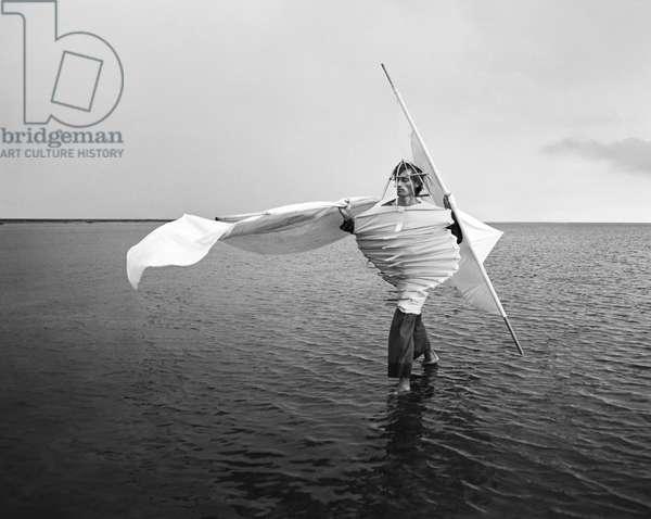 Longing For Wind 10, 2015 (b/w photo)