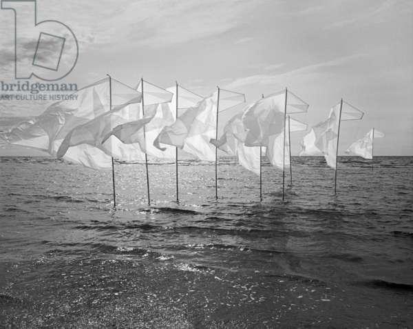 Wind-Installation III, 2015 (b/w photo)
