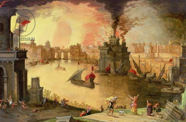 The Burning of Troy (panel)