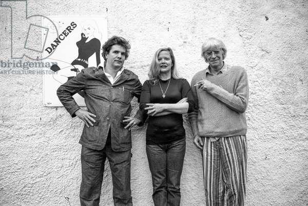 Martin Sharp, Jhames Moore and Jane Rankin Reid Hommage to John Deakin Photo of Bernard Brothers, Staffordstown house, Co Meath, c 1995 (b/w photo)